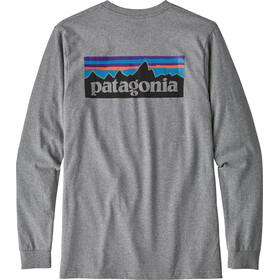 Patagonia P-6 Logo LS Responsibili-Tee Herren gravel heather